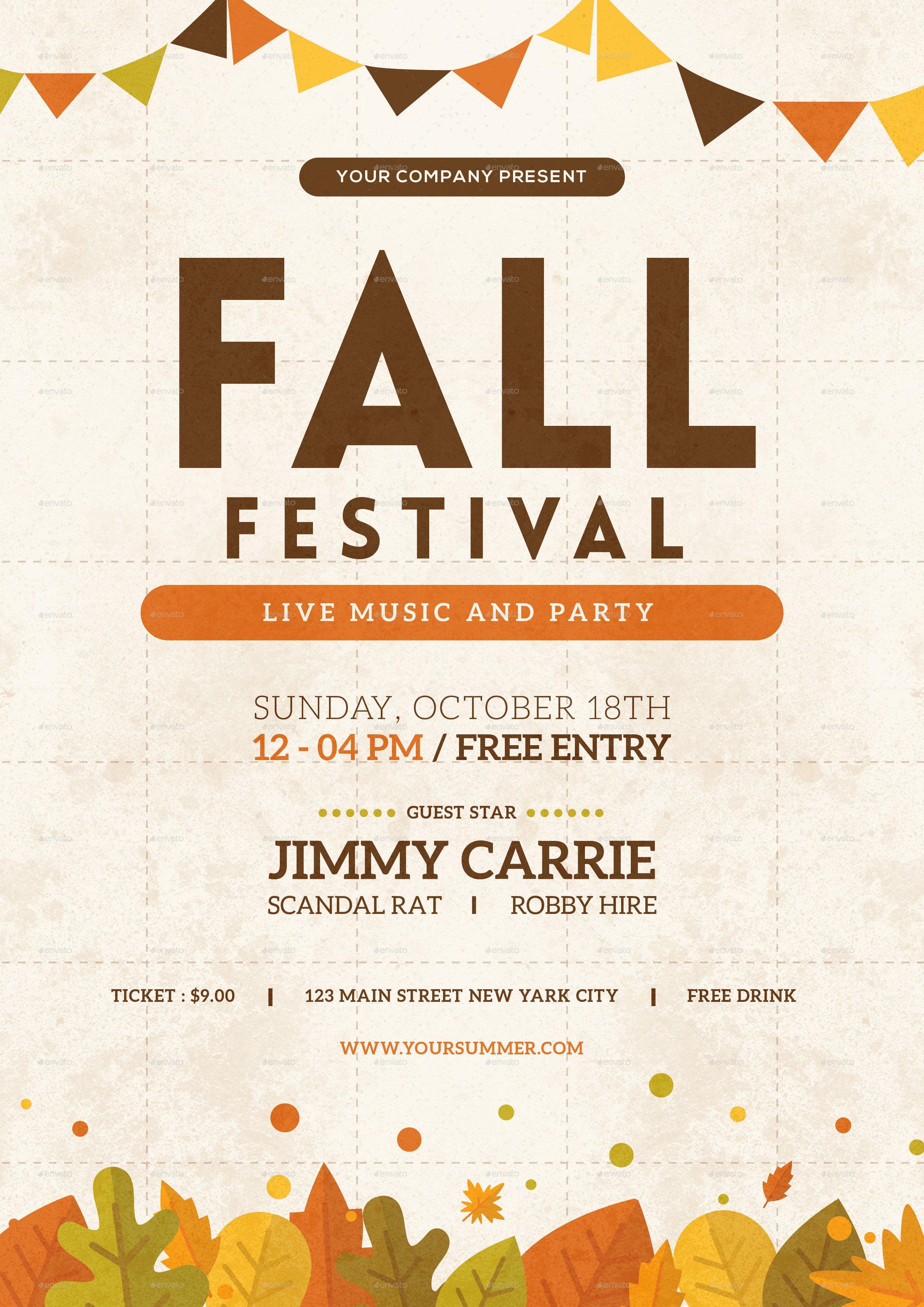 Fall Festival Flyers Template Fall Festival Flyer by tokosatsu