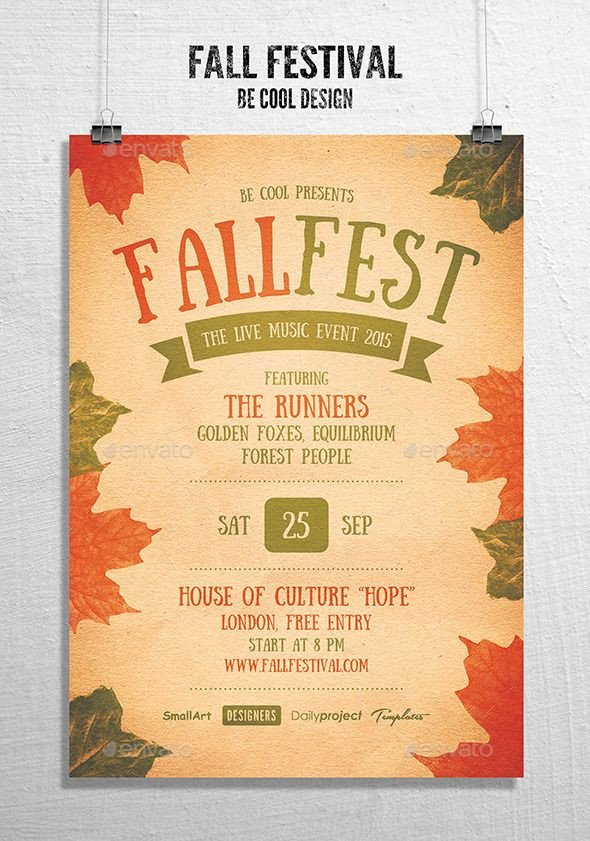 Fall Festival Flyers Template Fall Festival Flyer Poster