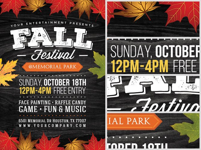 Fall Festival Flyers Template Fall Festival Flyer Template 2 Flyerheroes