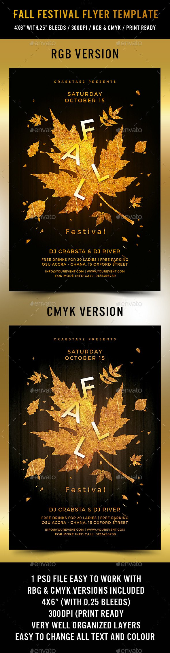 Fall Festival Flyers Template Fall Festival Flyer Template by Crabsta52