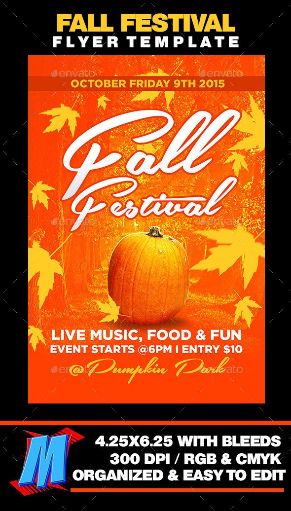 Fall Festival Flyers Template Fall Festival Flyer Template by Megakidgfx