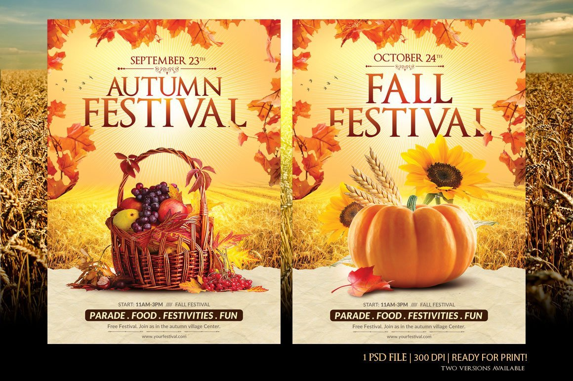 Fall Festival Flyers Template Fall Festival Flyer Template Flyer Templates Creative