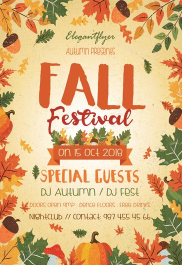 Fall Festival Flyers Template Fall Festival – Free Flyer Psd Template – by Elegantflyer