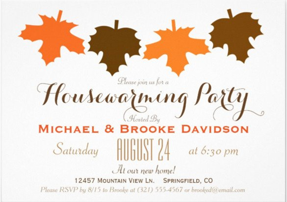 Fall Party Invitation Template 23 Housewarming Invitation Templates Psd Ai