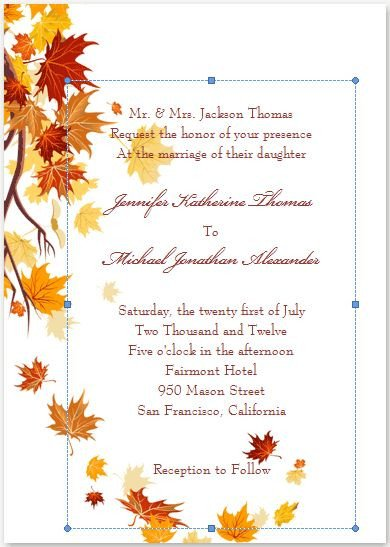 Fall Party Invitation Template 25 Best Ideas About Fall Wedding Invitations On Pinterest