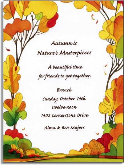 Fall Party Invitation Template 6 Best Of Autumn Invitations to Print