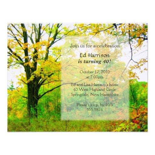 Fall Party Invitation Template Autumn Birthday Party Invitation Template