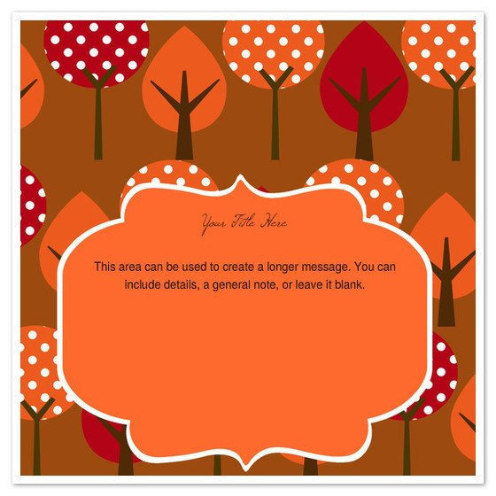 Fall Party Invitation Template Autumn Trees Invitations & Cards On Pingg