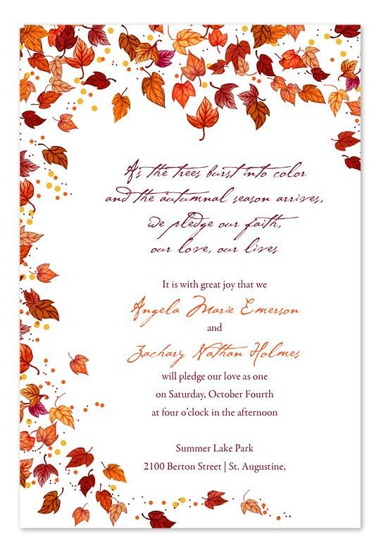 Fall Party Invitation Template Best 25 Fall Wedding Invitations Ideas On Pinterest