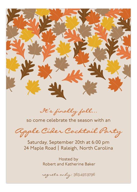 Fall Party Invitation Template Finally Fall Invitation