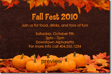 Fall Party Invitation Template Free Archives