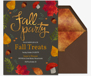 Fall Party Invitation Template Free Line Invitations Send Invites by Text Evite