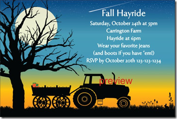 Fall Party Invitation Template Printable Archives