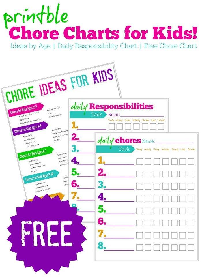Family Chore Chart Printable Remodelaholic