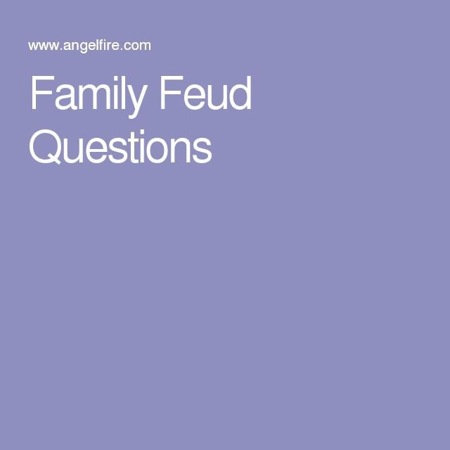 Family Feud Bible Questions Best 25 Family Feud Game Questions Ideas On Pinterest