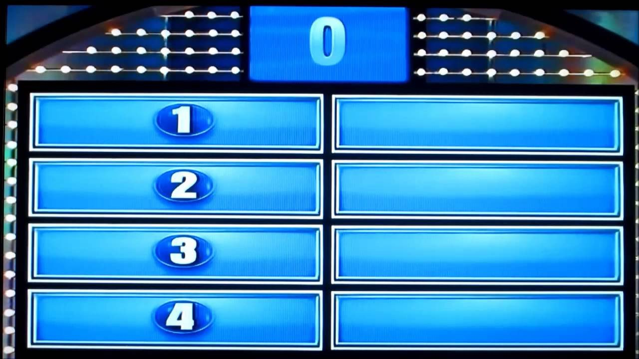 Family Feud Game Template Family Feud Day 1 Part 2 Crowe Family