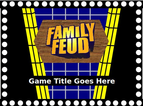 Family Feud Game Template Family Feud Game Powerpoint Template