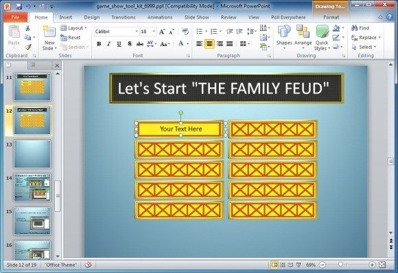 Family Feud Game Template Family Feud Powerpoint Game Template