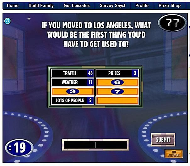Family Feud Game Template Game Show Templates for Jeopardy Wheel Of fortune