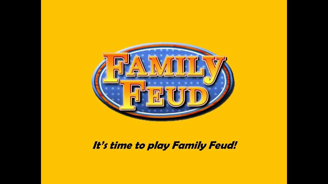 Family Feud Game Template Template Family Feud