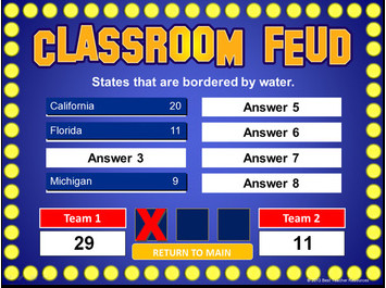 Family Feud Template Ppt Family Feud Powerpoint Template Classroom Game