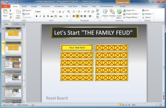 Family Feud Template Ppt Family Feud Powerpoint Template