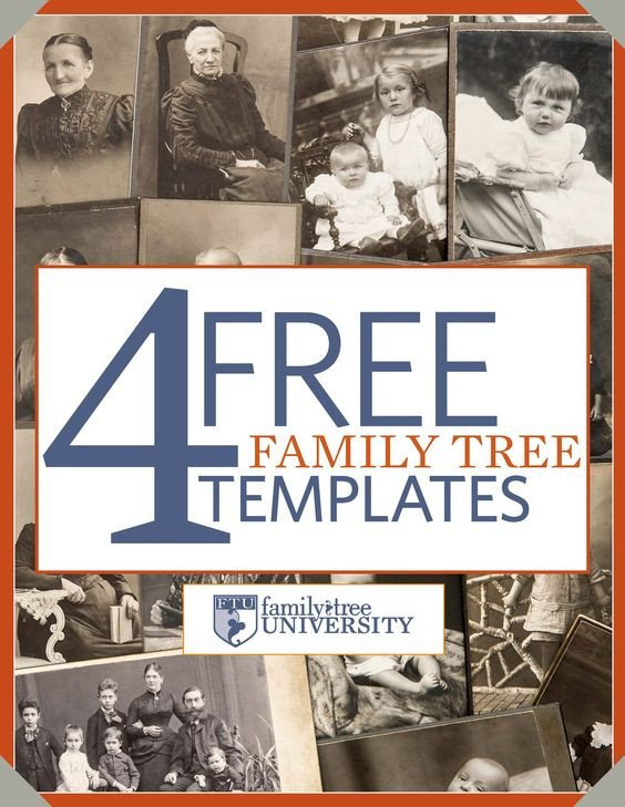 "Family History Book Template Download Our Free Genealogy E Book ""4 Free Family Tree"
