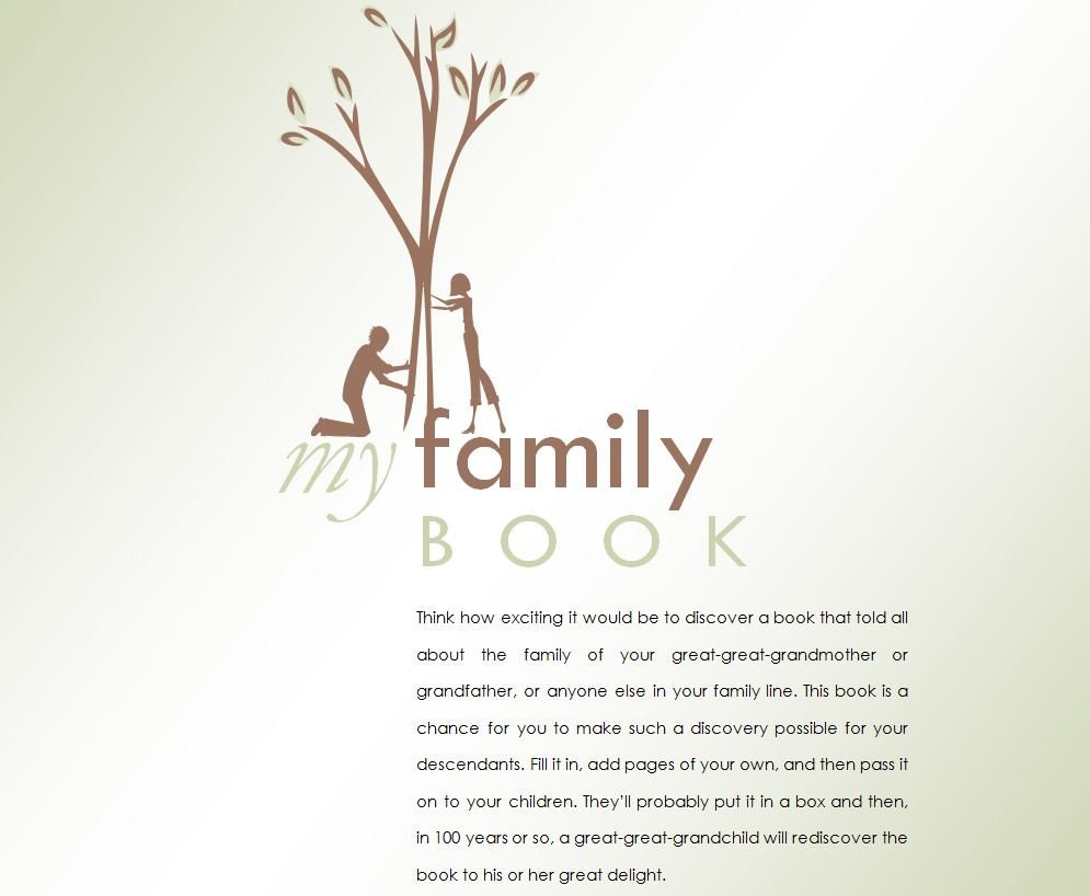 Family History Book Template Family History Book