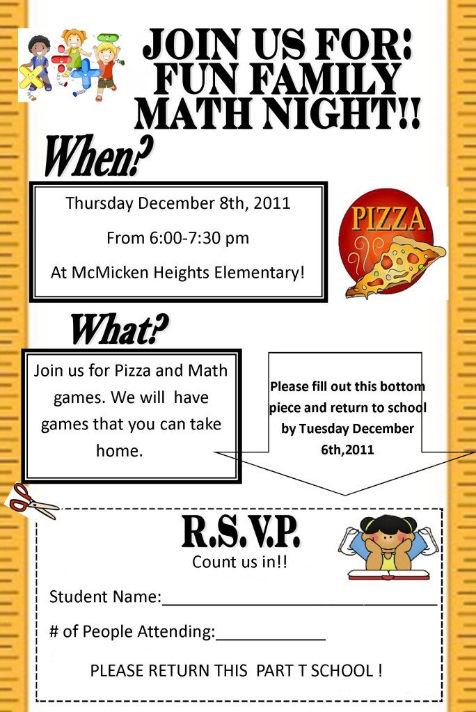 Family Math Night Flyers 301 Moved Permanently