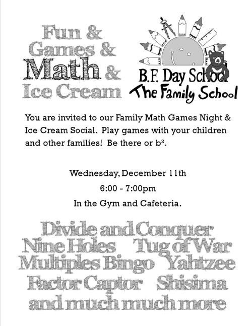 Family Math Night Flyers Bf Day Ptsa Connection