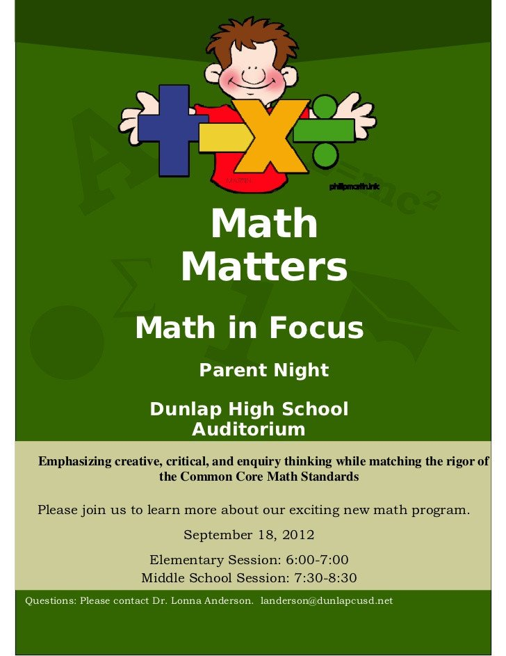 Family Math Night Flyers Family Math and Science Night Flyer Driverlayer Search