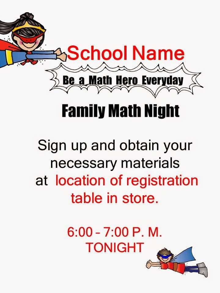 Family Math Night Flyers Multi Grade Matters Ideas for A Split Class Family Math
