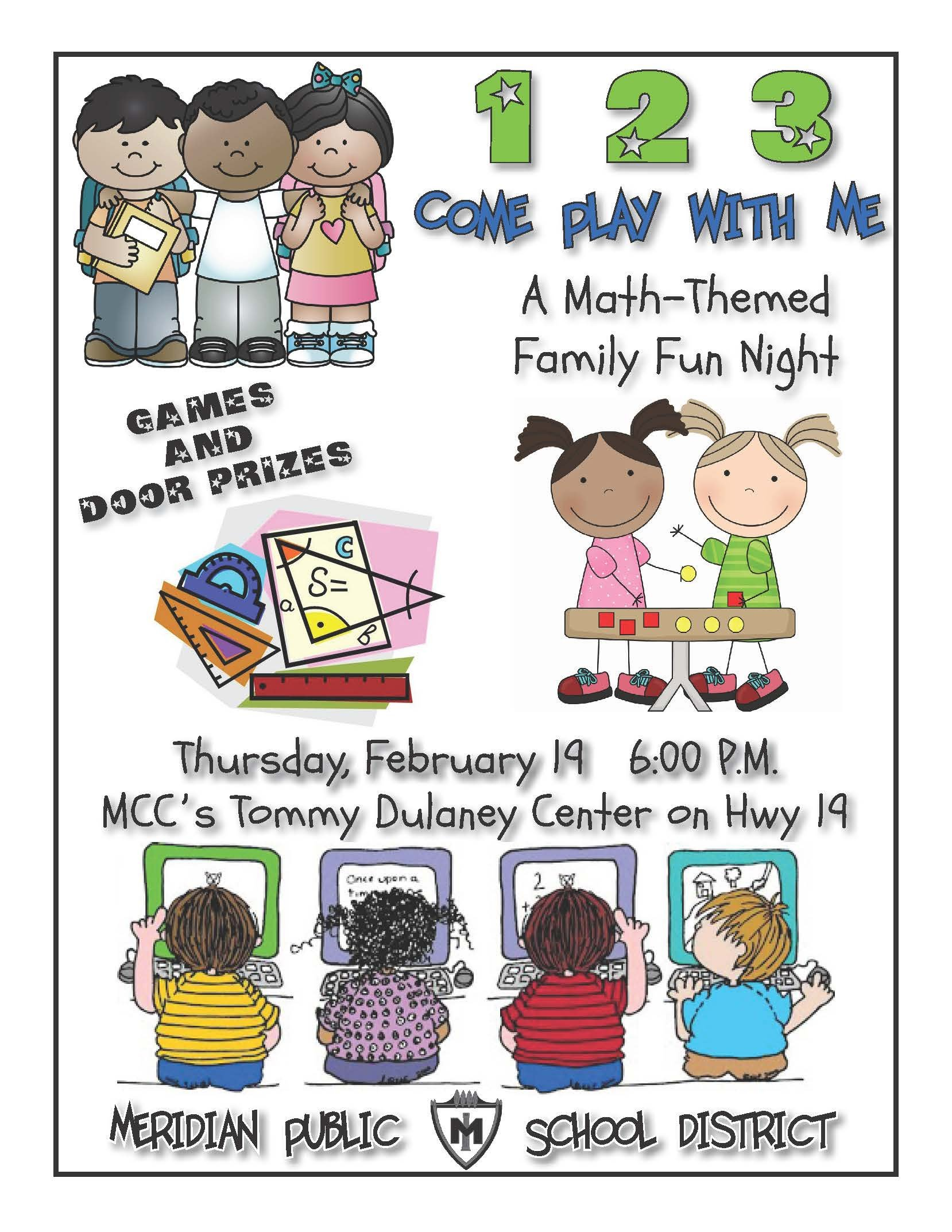 Family Math Night Flyers News