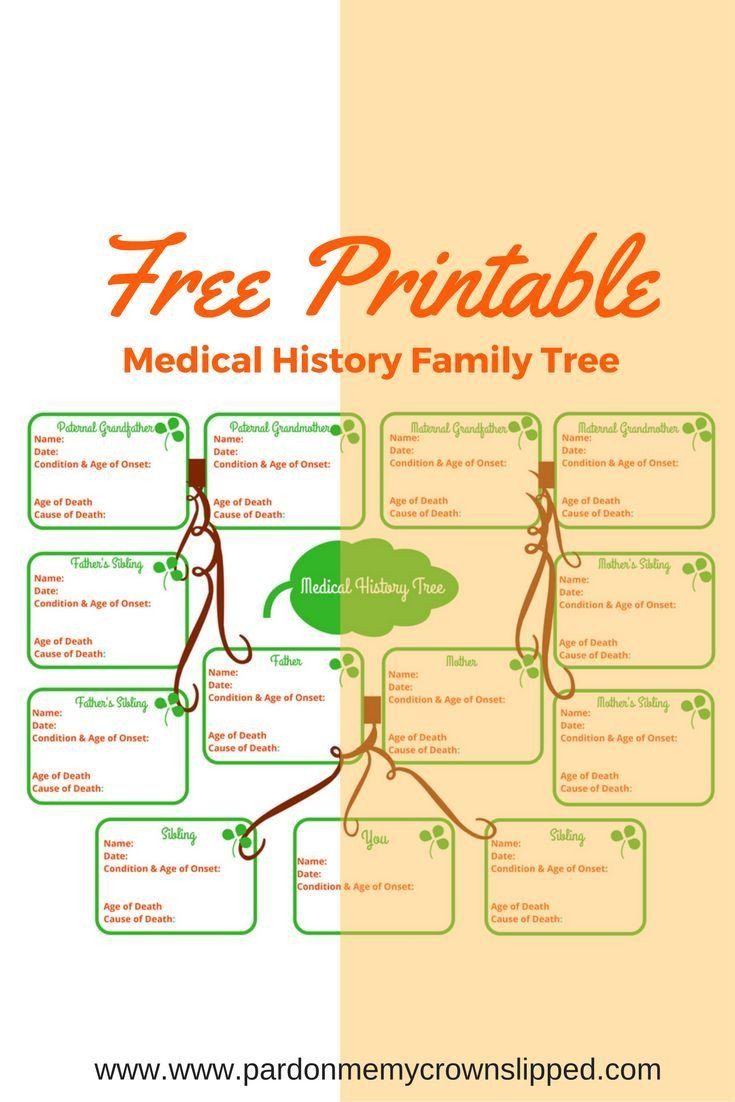 Family Medical Tree Best 25 Medical History Ideas On Pinterest
