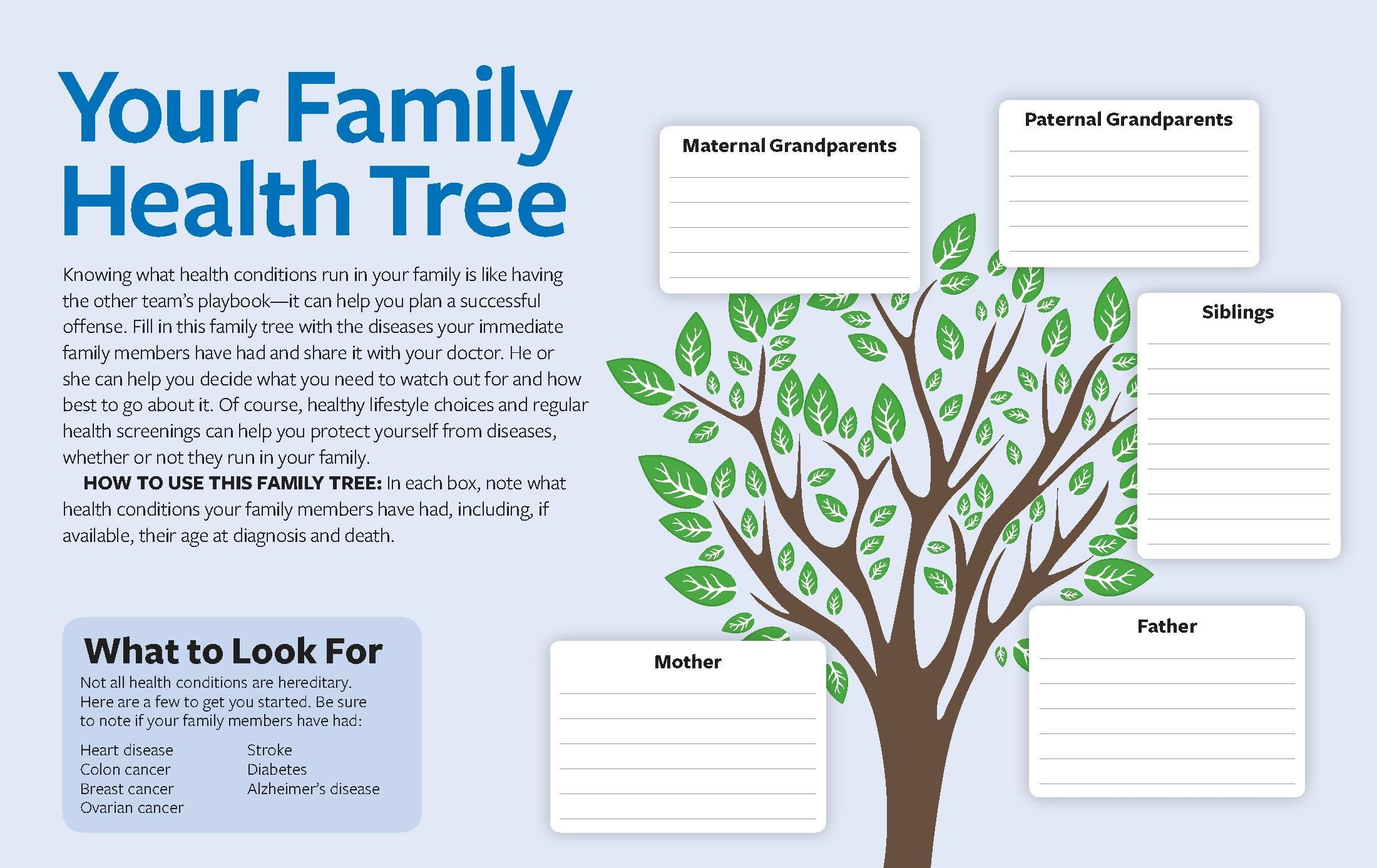Family Medical Tree [printable] Your Family Health Tree Knowing What Health