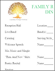 Family Reunion Banquet Program Sample Family Reunion Letter Samples