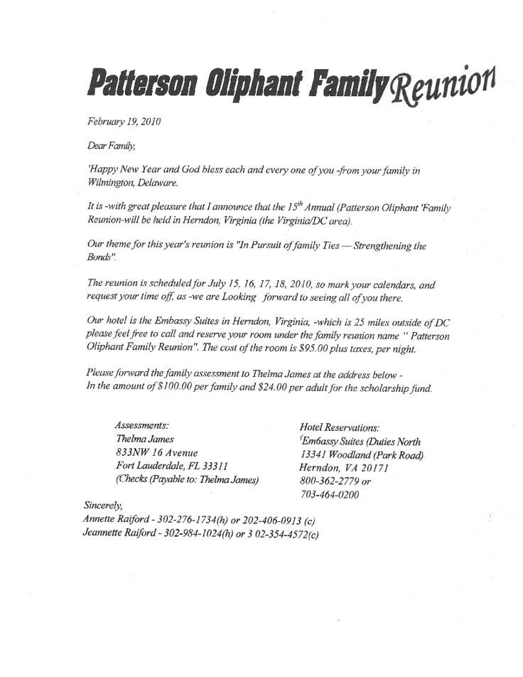 Family Reunion Banquet Program Sample Printable Example Of Family Reunion Program
