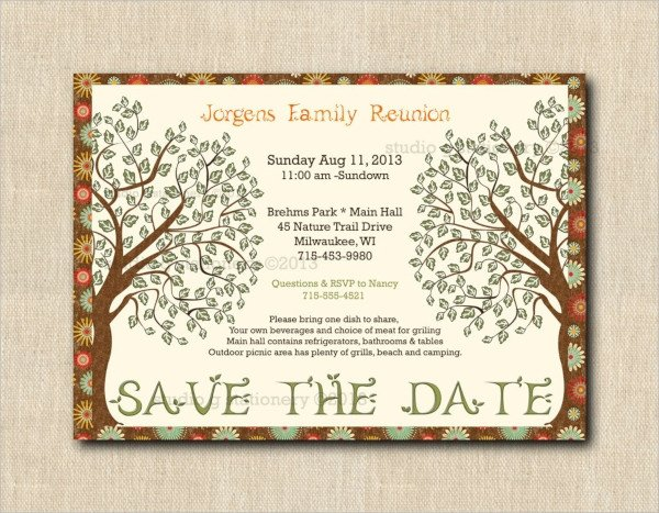 Family Reunion Flyer Templates 16 Sample Family Reunion Invitations Psd Vector Eps