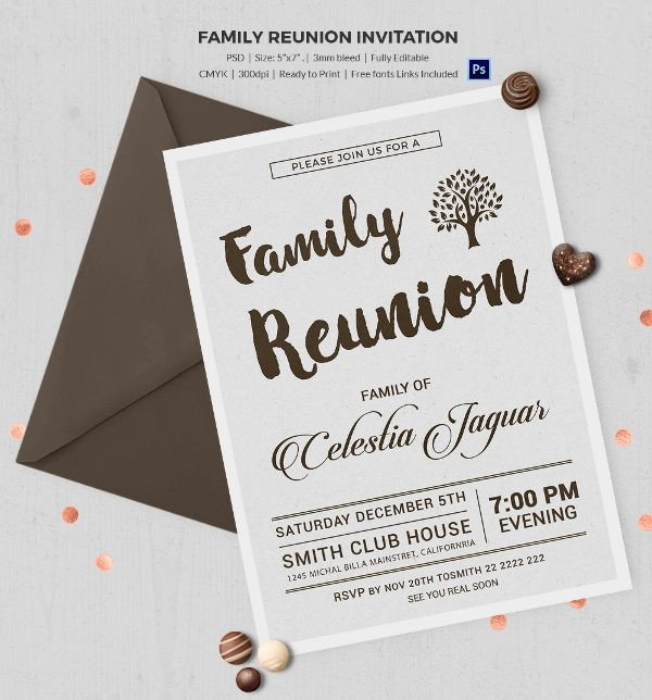 Family Reunion Flyer Templates 32 Family Reunion Invitation Templates Free Psd Vector