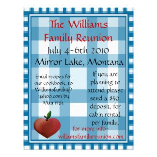 Family Reunion Flyer Templates Family Reunion Flyers & Programs