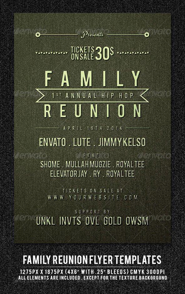 Family Reunion Flyer Templates Family Reunion Psd Dondrup