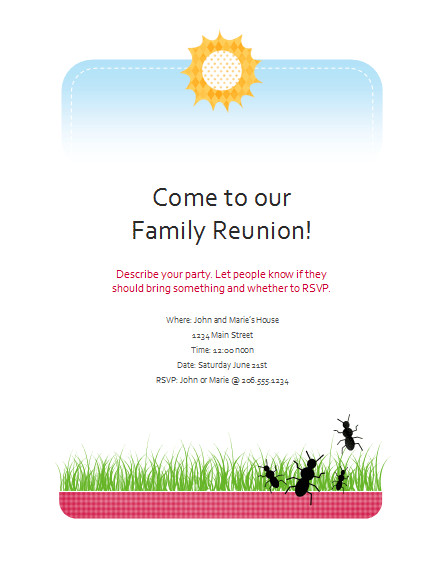Family Reunion Flyers Templates Download Family Reunion Flyer Free Flyer Templates for