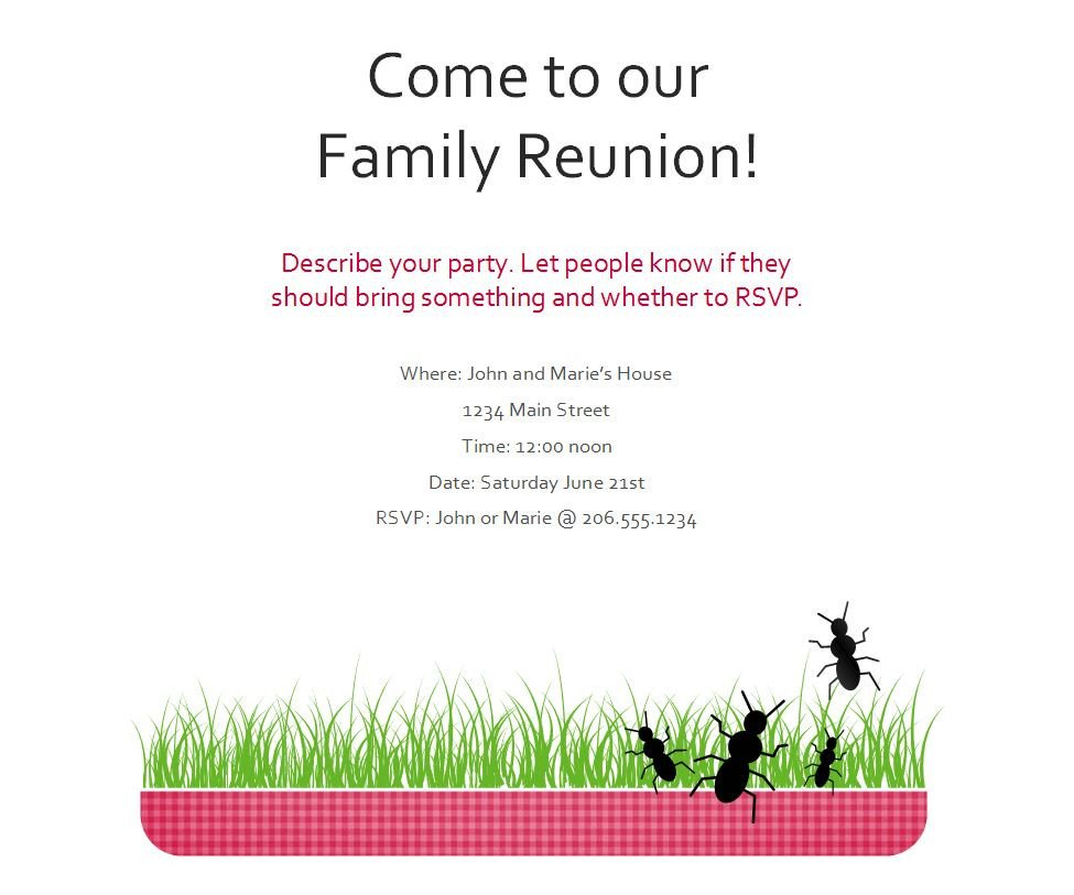 Family Reunion Flyers Templates Family Reunion Flyer