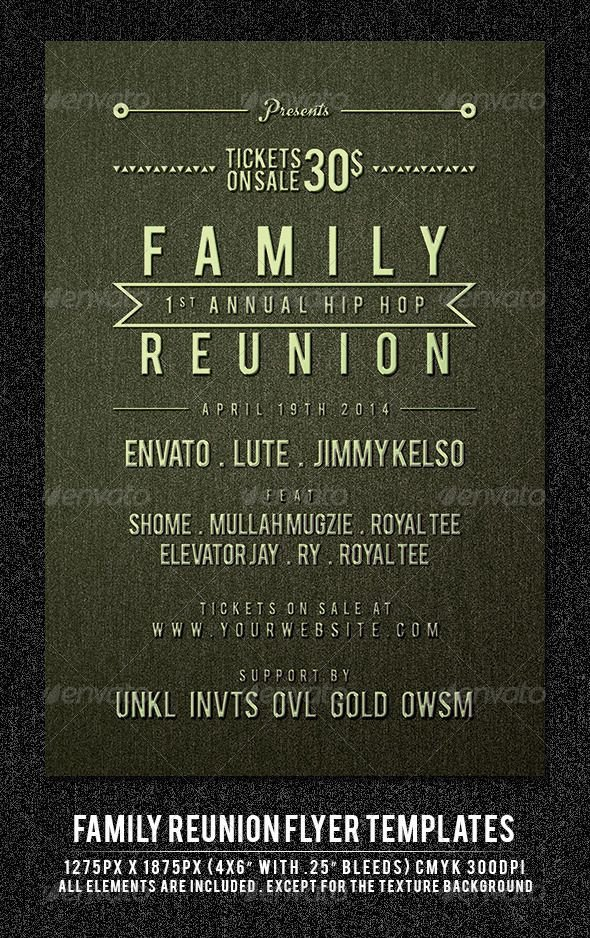 Family Reunion Flyers Templates Family Reunion Flyer Template