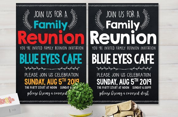 Family Reunion Flyers Templates Family Reunion Party Flyer Card Templates Creative Market