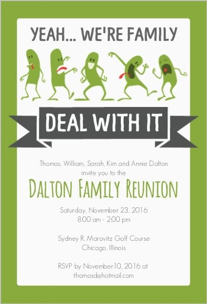 Family Reunion Flyers Templates Funny Family Reunion Invitation