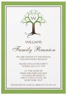 Family Reunion Invitation Templates 1000 Ideas About Family Reunion Invitations On Pinterest