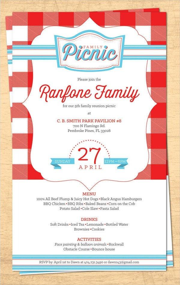 Family Reunion Invitation Templates 16 Sample Family Reunion Invitations Psd Vector Eps