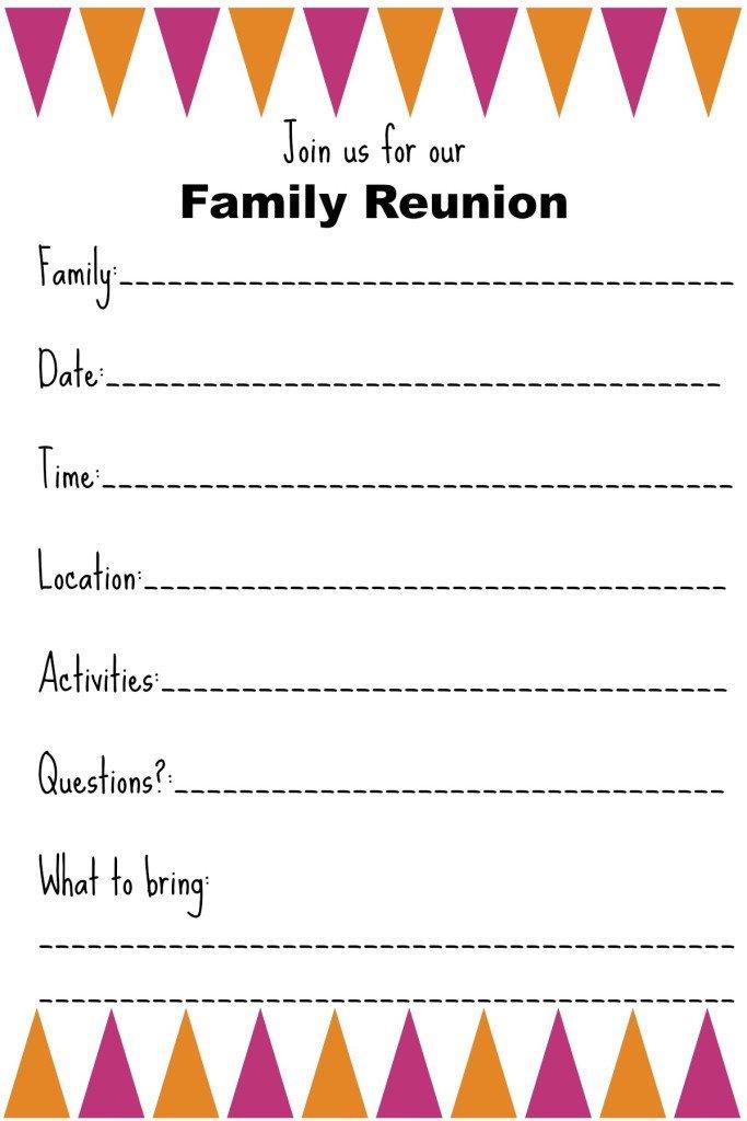 Family Reunion Invitation Templates Family Reunion Invitation Templates Ginny S Recipes & Tips