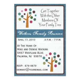 Family Reunion Invitation Templates Family Reunion Invitations & Announcements